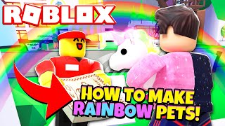 How to Make a *NEW* RAINBOW PET in Adopt Me! NEW Adopt Me Rainbow Neon Pets Update (Roblox)