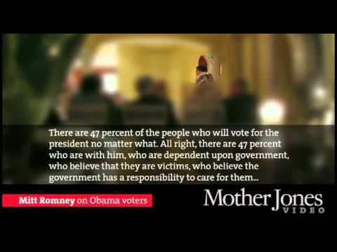 LEAKED Romney Video: Doesn't Care About 47% of Americans Video