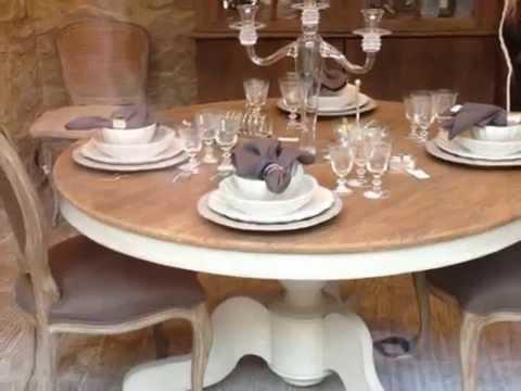 Mesas ampliables videos videos relacionados con mesas - Mesas redondas de comedor antiguas ...