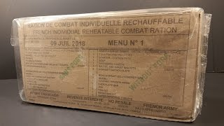 2015 French RCIR Ostrich & Cranberry Sauce 24 Hr Ration MRE Review Military Combat Food Tasting
