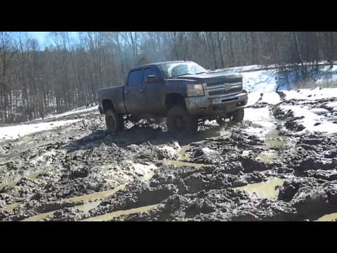 Chevy And Dodge Mudding!