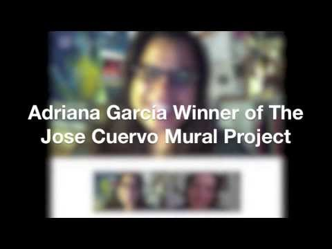 Adriana García Winner of The Jose Cuervo Mural Project