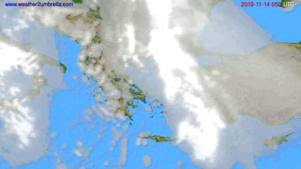 Cloud forecast Greece // modelrun: 00h UTC 2019-11-13