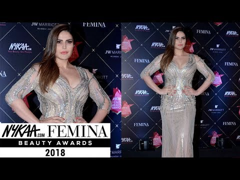 Zarine Khan At Nykaa Femina Beauty Awards 2018 In