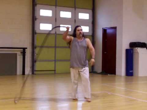 Bullwhip cracks, 8 foot whip (видео)