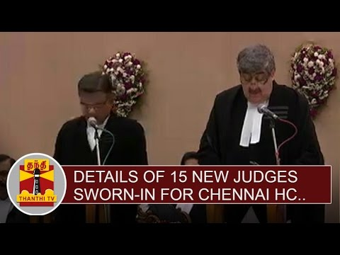 Details-of-15-New-Judges-Sworn-in-at-Chennai-High-Court-Thanthi-TV