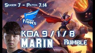AFs MaRin RUMBLE vs JARVAN IV Top Lane - Patch 7.14 KR Ranked ↓↓↓ Runes & Masteries ↓↓↓ GAME TYPE: Ranked...