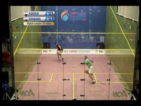 final us open ashour vs shabana 2009 (5to set )  2da parte