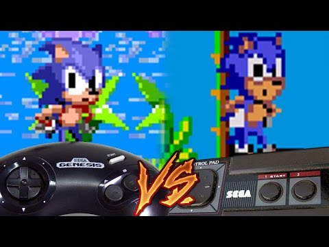 Sega Genesis Vs Sega Master System - Sonic the Hedgehog