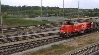Muttenz Switzerland  City pictures : Eisenbahn/Train Schweiz/Suisse. Railway . Ein Güterzug durchrollt Muttenz . SBB . 44 Sek.