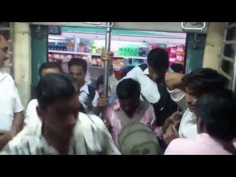 Crowded Virar Fast Local Trains