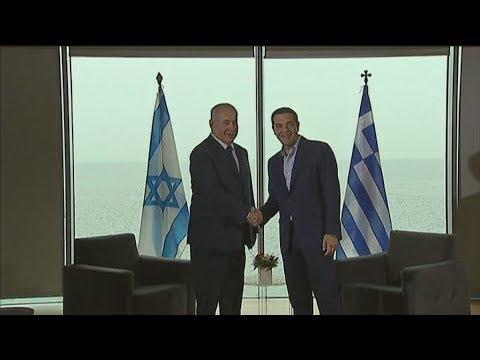 Ο Αλέξης Τσίπρας στην Τριμερή Σύνοδο Κορυφής Ελλάδας- Κύπρου- Ισραήλ