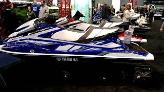 8. 2018 BLUE YAMAHA GP1800 SUPERCHARGED WAVERUNNER ON DISPLAY @ NEW YORK BOAT SHOW