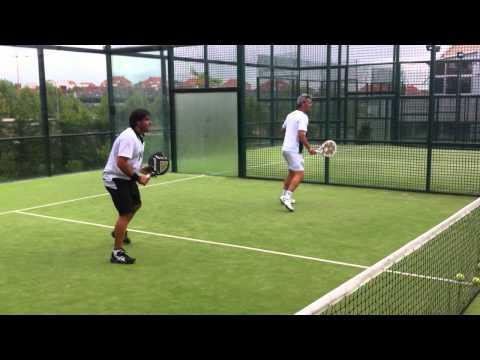 Entrenamiento de Miguel Lamperti y Cristian Gutierrez