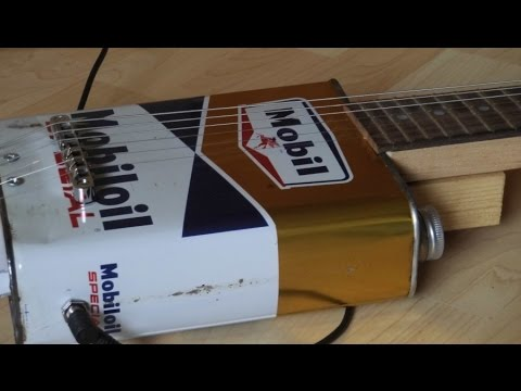 Video DIY Oil Can Guitar (part 2 including demo) download in MP3, 3GP, MP4, WEBM, AVI, FLV January 2017