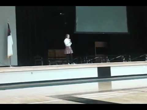 Katherine Sellers gives her Christian Testimony