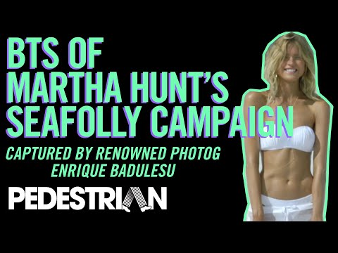 Martha Hunt - Seafolly 2014, Behind The Scenes