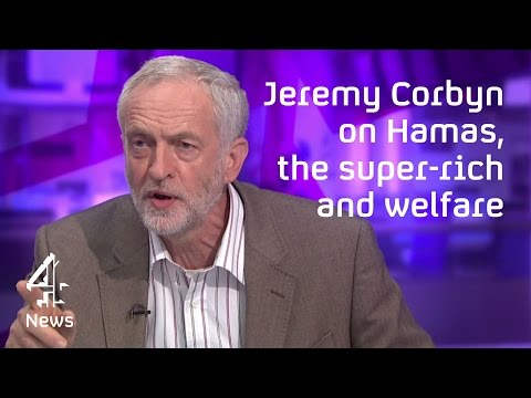Jeremy Corbyn interview on Hammas  the Middle East and the super-rich