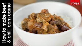 Gravy beef is perfect for this slow cooked beef chilli con carne as it soaks up all the flavours (RECIPE BELOW). Mal shows you...