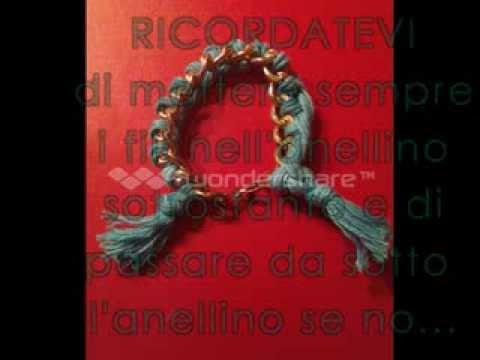 TUTORIAL: Bracciale di catena con filo di cotone intrecciato