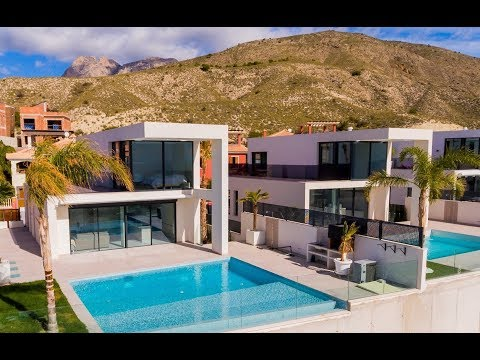 From 420 000 € New high-tech villas with sea views in Spain in Benidorm (Alicante Province, Finestrat)