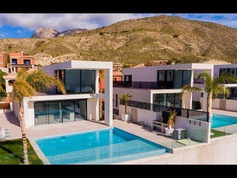 От 420 000€ Новые виллы Hi-tech с видом на море в Испании в Бенидорме (Провинция Аликанте, Финестрат)