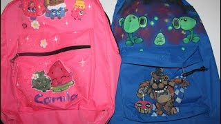HOW TO make shopkins FIVE NIGHTS AT FREDY'S    Back pack tutorial