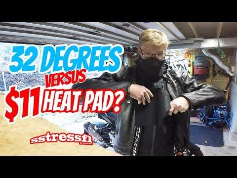 $11 USB Heat Pad Review | Cold Weather Riding in Vermont | Suzuki GSX-S750