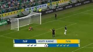 Awesome penalty kick, Maciek Adamiak rzut karny Wielki Mecz TVN-TVP