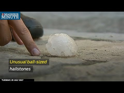 Hailstones the size of tennis balls damaged cars in eastern Spain