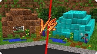 Download Lagu CASA NOOB DE TIERRA VS CASA NOOB DE DIAMANTE EN MINECRAFT 😱 Mp3