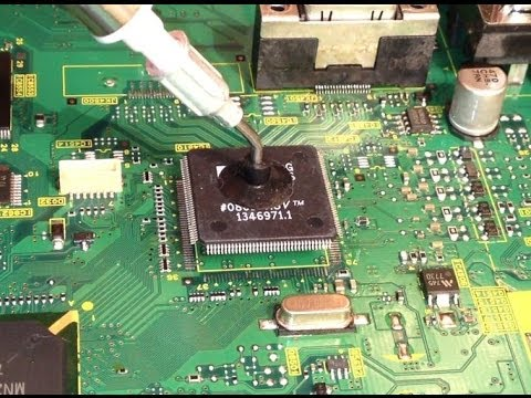 Panasonic Viera main board repair part 3/3 - chip replacement