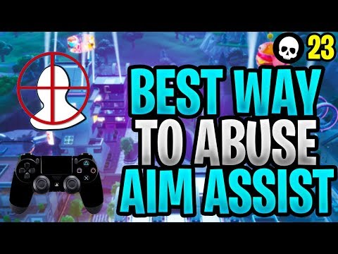 How To Abuse Aim Assist + Hit MORE Shots - PS4/Xbox Fortnite! (Fortnite Controller Aim Guide)