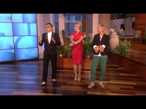 The Ellen Show - Korean pop star and YouTube sensation Psy gave Britney Spears a surprise visit on the show, and taught her his famous horse dance!