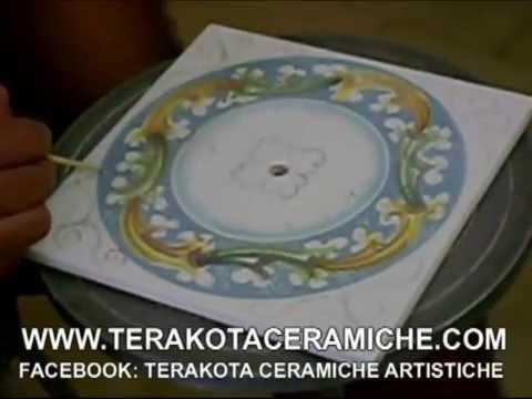 Terakota ceramiche,LAVORAZIONE CERAMICA ARTIGIANALE,CORSO PITTURA CERAMICA SICILIANA,OROLOGIO