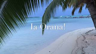 Sunset at Hotel Les Tipaniers, Moorea, French Polynesia with traditional music from the Society Islands/ Pôr do sol no Hotel Les...