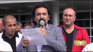 SAMSUN'DA SAĞLIK ÇALIŞANLARI OMÜ YÖNETİMİNİ PROTESTO ETTİ...
