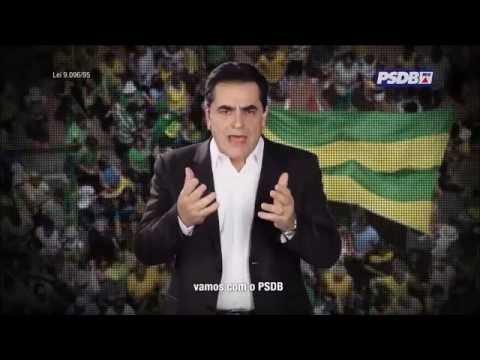 Inserções de rádio e TV do PSDB de Minas estão sendo exibidas aos domingos