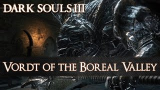 ► Dark Souls 3► Watch in 1080p► Playlist: http://bit.ly/1Sdsc0gBoss #2: Vordt of the Boreal Valley / Vordt vom NordwindtalLocation:High Wall of LothricDrops:Souls: NG (3,000), NG+ (11,250)Other: Soul of Boreal Valley VordtBuy Dark Souls 3:http://www.amazon.de/gp/product/B00ZP..._______________________________________Follow us on: Twitter: http://twitter.com/moebotzzFacebook: http://www.facebook.com/moebotzzGoogle+: http://bit.ly/1sAoeyx_______________________________________PC-Setup:CPU: Intel Core i5 4690 4x 3.50GHzRAM: HyperX Savage 16GBGPU: Inno3D GeForce GTX 970 iChill HerculeZ X4 Air BossSSD: Crucial MX100 512GBMotherboard: Asus H97 PlusRecording Tool: NVIDIA ShadowplayKeyboard: Logitech G510Mouse: Steelseries SenseiGamepad: XB1 Controller_______________________________________Dark Souls 3 is an upcoming action RPG developed by FromSoftware and published by Bandai Namco. It is scheduled to be released in March/April 2016. Dark Souls 3 Network Test - Available between October 16th and October 18th 2015, registered participants may play the network test beta version of the game.Developer: From SoftwarePublisher: Namco Bandai EntertainmentPlatforms: Playsation 4, Xbox One, PCGenre: Action RPGRelease Date: 12.04.2016Source: http://darksouls3.wiki.fextralife.com/http://www.darksouls3.com/