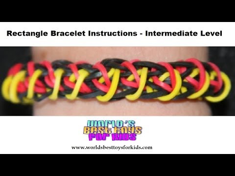 Rainbow Loom Rubber Band Refill – Rectangle Bracelet  Instructions