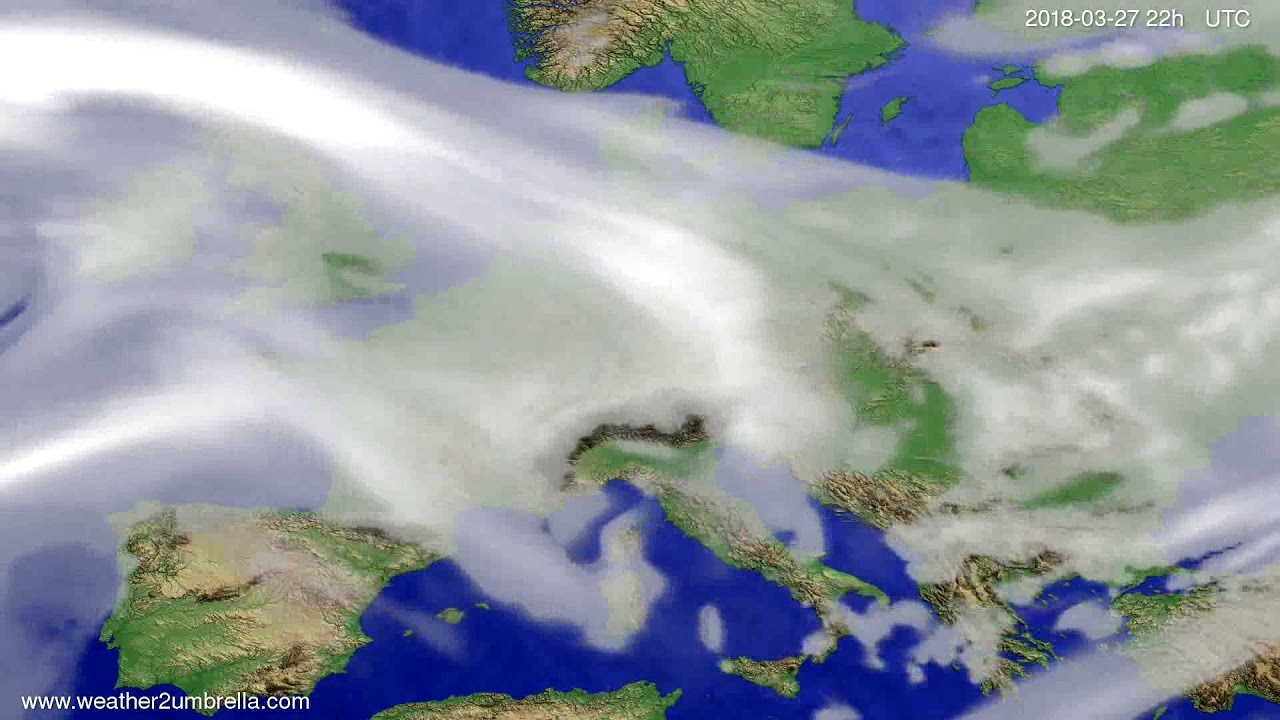 Cloud forecast Europe 2018-03-25