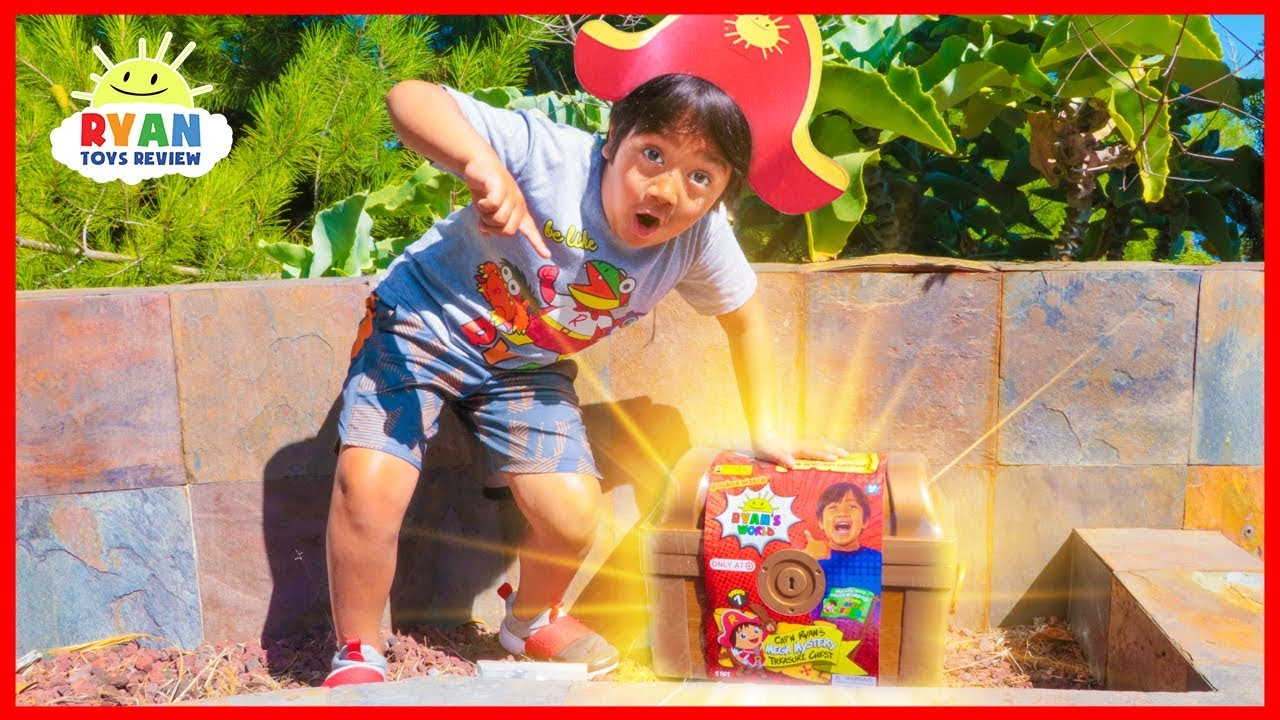 Ryan found Giant Treasure Chest in our backyard!!!! - YouTube