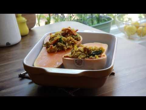 Vegetarian Recipes – How to Make Stuffed Butternut Squash