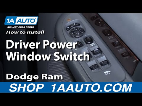 How to Install Repair Replace Driver Power Window Switch Dodge Ram 02-08 1AAuto.com