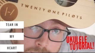 Here's a ukulele tutorial for Tear In My Heart by Twenty-One Pilots - Do you like my TØP uke?! Download my App for FREE!