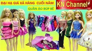 KN Channel và bé Na có đồ chơi trẻ em QUẦN ÁO BÚP BÊ BARBIE. Trong chợ KN Channel búp bê barbie bán đại hạ giá,...