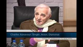 Press Conferance with Charles Aznavour in New York