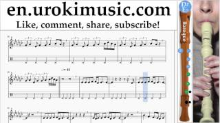 http://en.urokimusic.com/ How to Play Recorder (B.) Tove Lo - Lies In The Dark Tabs Part # 2 um-i352 Please write in the comments, how to make lessons more u...