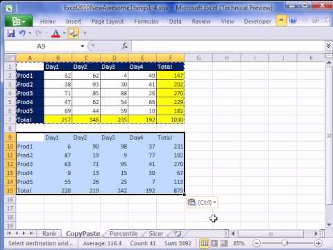 how to provide options in excel