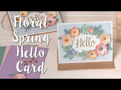DIY Paper Flowers: Floral Spring Hello Card